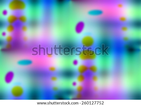 Blurred background with soft gradients and colored dots