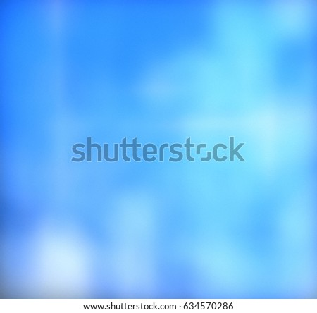 Blurred blue background. Background for your text or design. Abstract texture bright colors
