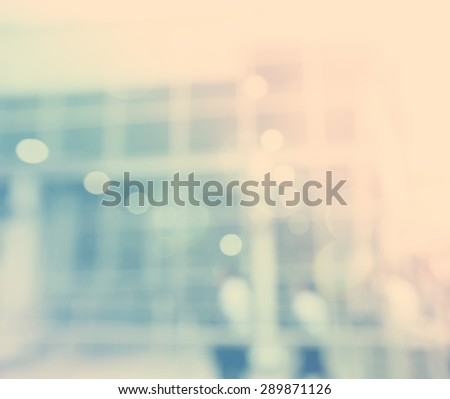 Blurred blue bokeh modern exterior background image  - stock photo