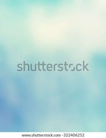 blurred blue sky and clouds background illustration - stock photo