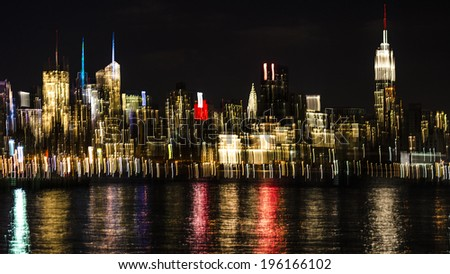Blurred Bokeh Background of New York City
