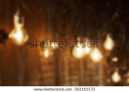 Blurred bulbs - stock photo