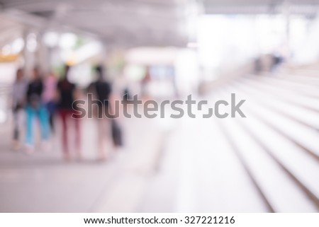 Blurred businesspeople - stock photo