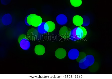 Blurred christmas light background in Christmas and new year season
