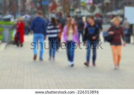 Blurred city street