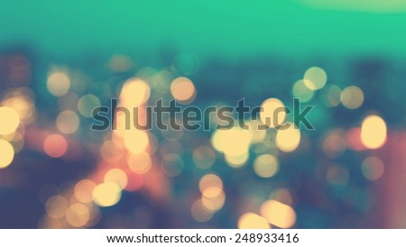 Blurred cityscape background scene at dawn from above - stock photo