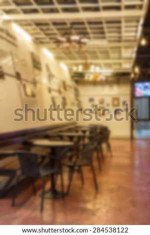 Blurred coffee shop.