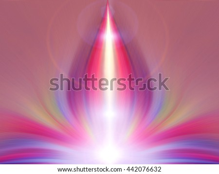 Blurred color light. Abstract fantasy flower. Background for esoteric text. - stock photo