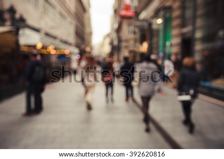 Blurred crowd in the city