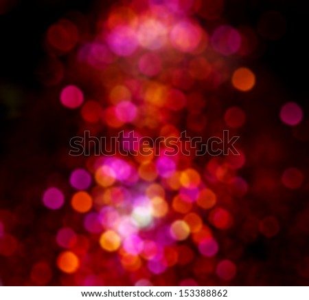 Blurred de focused christmas lights background - stock photo