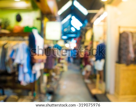 Blurred defocused abstract background of people at Chatuchak market, Shopping background Bangkok, Thailand - stock photo