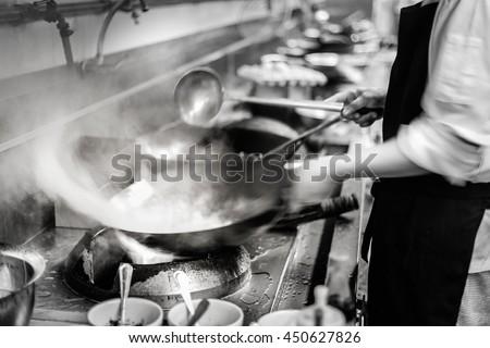 Restaurant Kitchen Photography blurred chef restaurant kitchen motion cooking stock photo