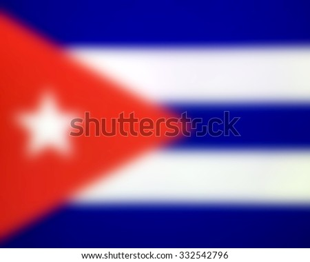 Blurred flag background - Cuba - stock photo