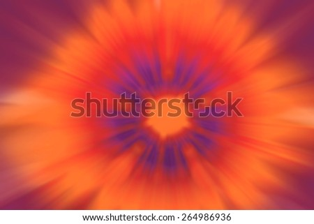 Blurred flower center rays meditation abstract background - stock photo