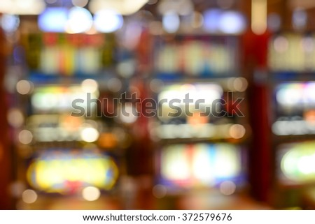 Blurred focus in casino with Instagram Style Filter. - stock photo