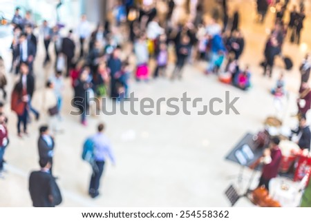 Blurred for background - shopping mall scene