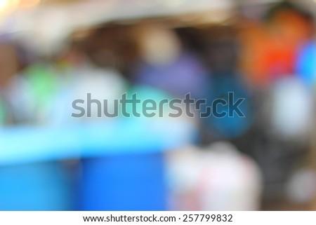Blurred Garbage Disposal - stock photo