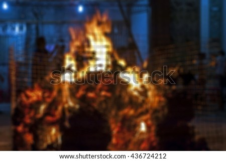 Blurred image / For the death of a relative were funeral rites - stock photo