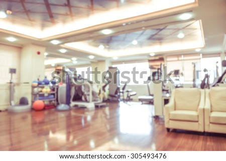 blurred image of hospital vintage style - physical therapy room - stock photo
