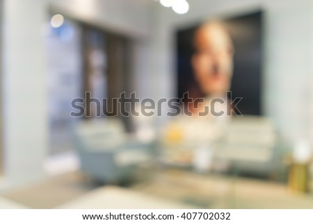 Blurred image of Living room for background uses - stock photo