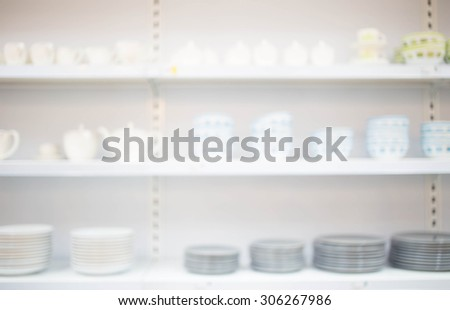 Blurred image of shopping mall and bokeh background