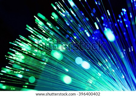 blurred light fiber optical network cable  for background and wallpaper