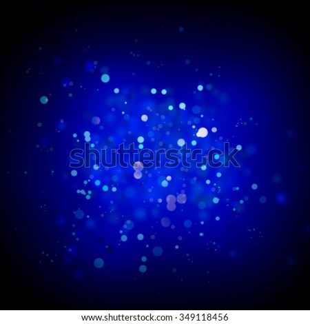 Blurred lights abstract blue background