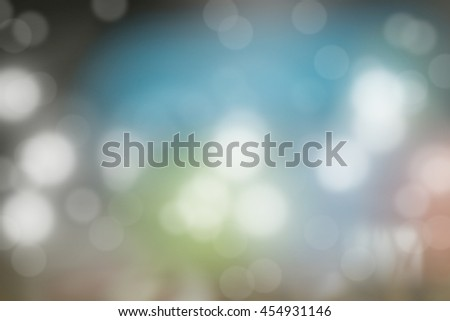 Blurred Lights on blue background - stock photo