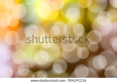 Blurred lights vintage yellow bokeh abstract light background - stock photo
