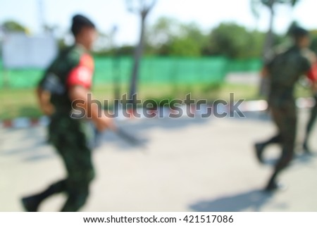 blurred military training incident