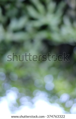 Blurred natural outdoors background in green and white tones. - stock photo