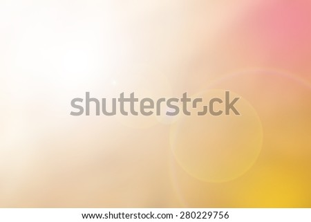Blurred nature background.Backdrop with turquoise and bright sun light. Summer holidays concept. - stock photo