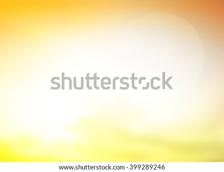 Blurred nature. Bright, Sun, Sand, Sea, Bokeh, Flare, Soft, Glow, Ocean, Relax, Shine, Pastel, Fresh, Blank, Banner, Vibrant, Morning, Backdrop, Yellow, City, Healthy, Orange, White, Color, Sky. - stock photo