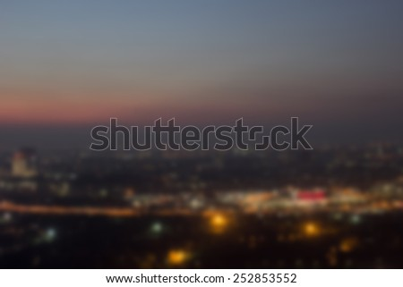 Blurred night city background. blur backgrounds concept - stock photo