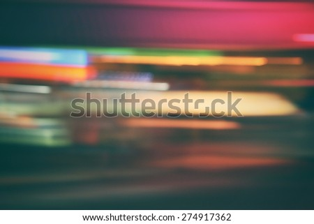 Blurred of city at night - stock photo