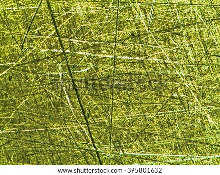 Blurred of macro brass surface deterioration from worker. - stock photo