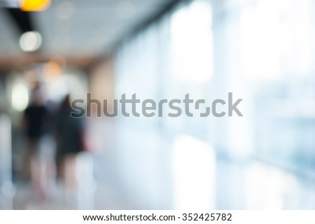 blurred office working background - stock photo