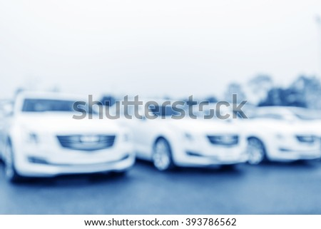 Blurred parking background