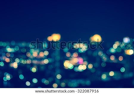 Blurred Photo bokeh of cityscape - stock photo
