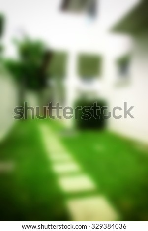 blurred photo outdoor home background  - stock photo