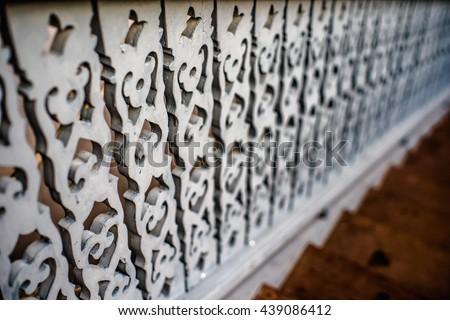 Blurred Railing - stock photo