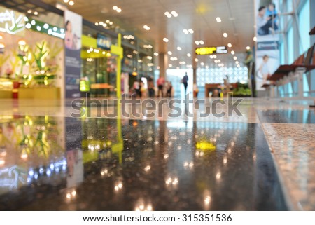 Blurred shop in airport  background, blurred background concept - stock photo
