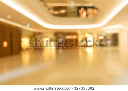 Blurred Shopping mall Interior background - stock photo