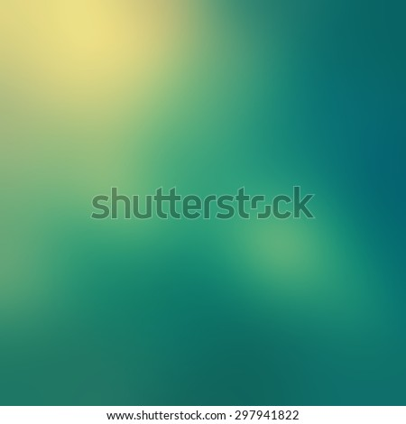 blurred sky blue background with yellowed bokeh lights and filter effect - stock photo