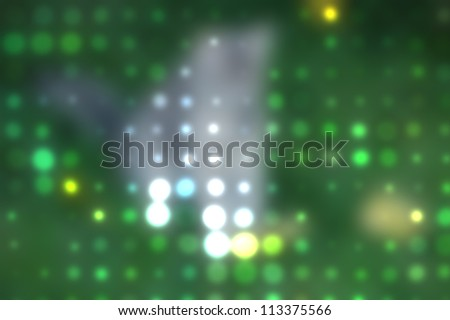 blurred spots and colorful dots out of focus background - stock photo