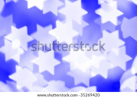 Blurred stars, may be used as background - stock photo