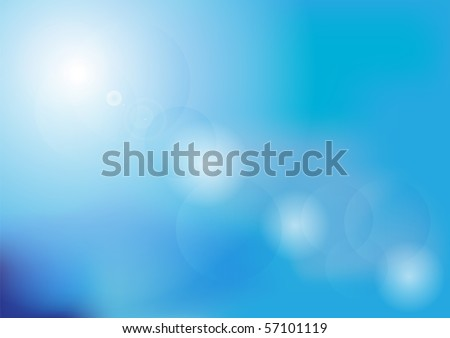 Blurred Summer Sky - stock photo