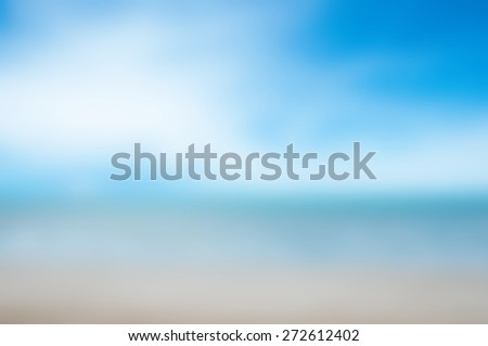 Blurred tropical seascape (sky sea sand beach) - stock photo