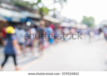 Blurred unidentified tourist shops at Chatuchak Weekend Market or JJ Market in bangkok Thailand - stock photo