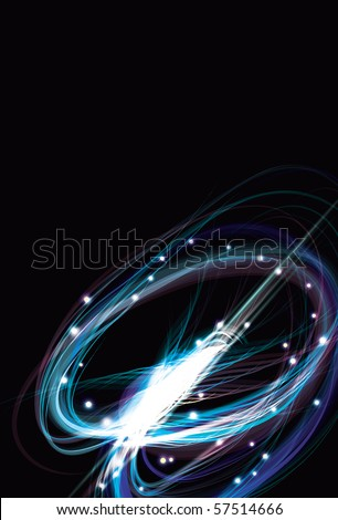Blurry abstract blue light effect sparkle background - stock photo